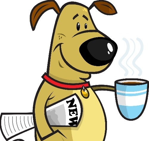 Coffee Drinking Dog Animated