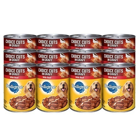 Canned Food from Pedigree Comes in 12 and 24 Packs