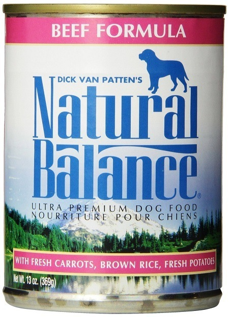 Can of Natural Balance Premium Beef Formula