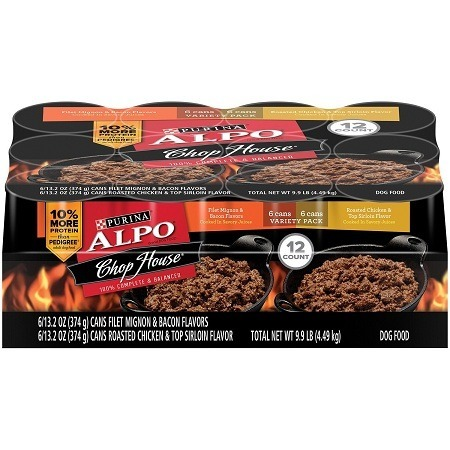 Variety Package of Purina Alpo Wet Dog Food